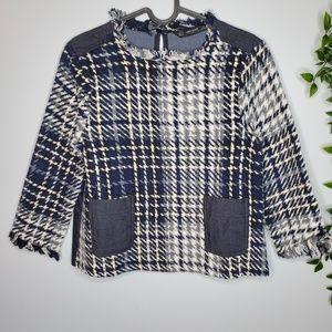 Zara Tops - Zara Size S Contrasting Tweed Top